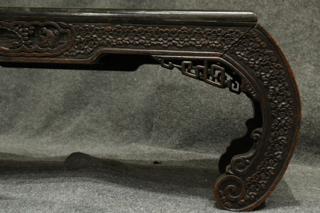 Carved Asian Oriental Opium Low Table - 6