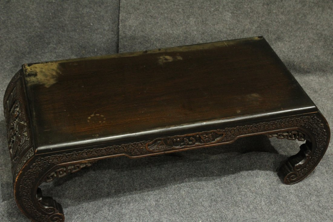 Carved Asian Oriental Opium Low Table - 9
