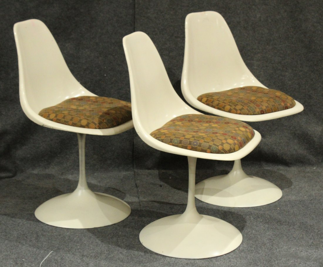 3 Knoll Saarinen Tulip Base Swivel Chairs