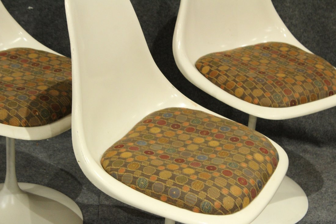 3 Knoll Saarinen Tulip Base Swivel Chairs - 2