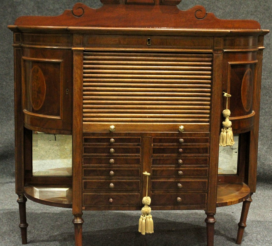 RARE French Victorian Walnut Watchmaker Jeweler Cabinet - 3