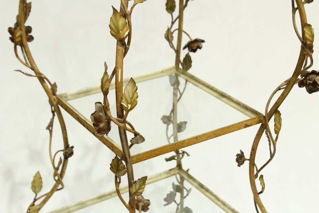 French Metal Leaf and Vine Etagere Tiered Stand - 3