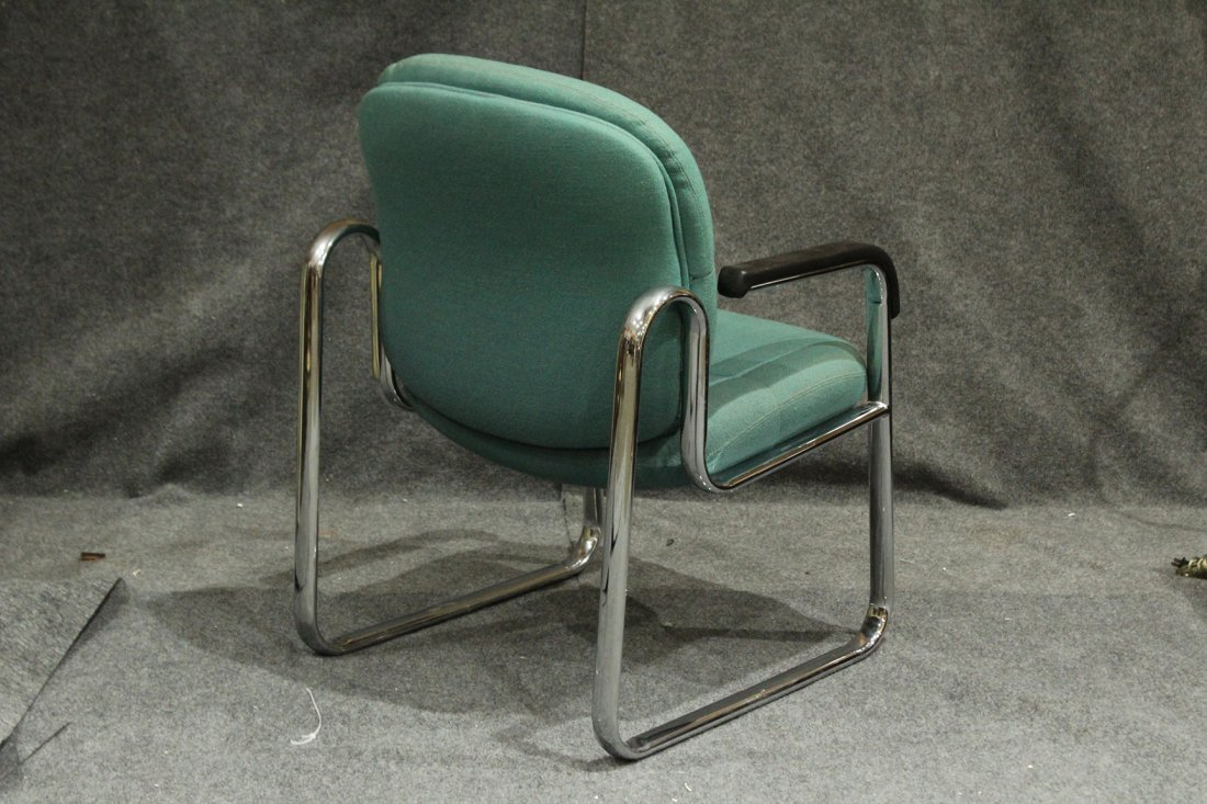 Mid-Century Tubular Chrome Arm Chair Very Stylish - 4