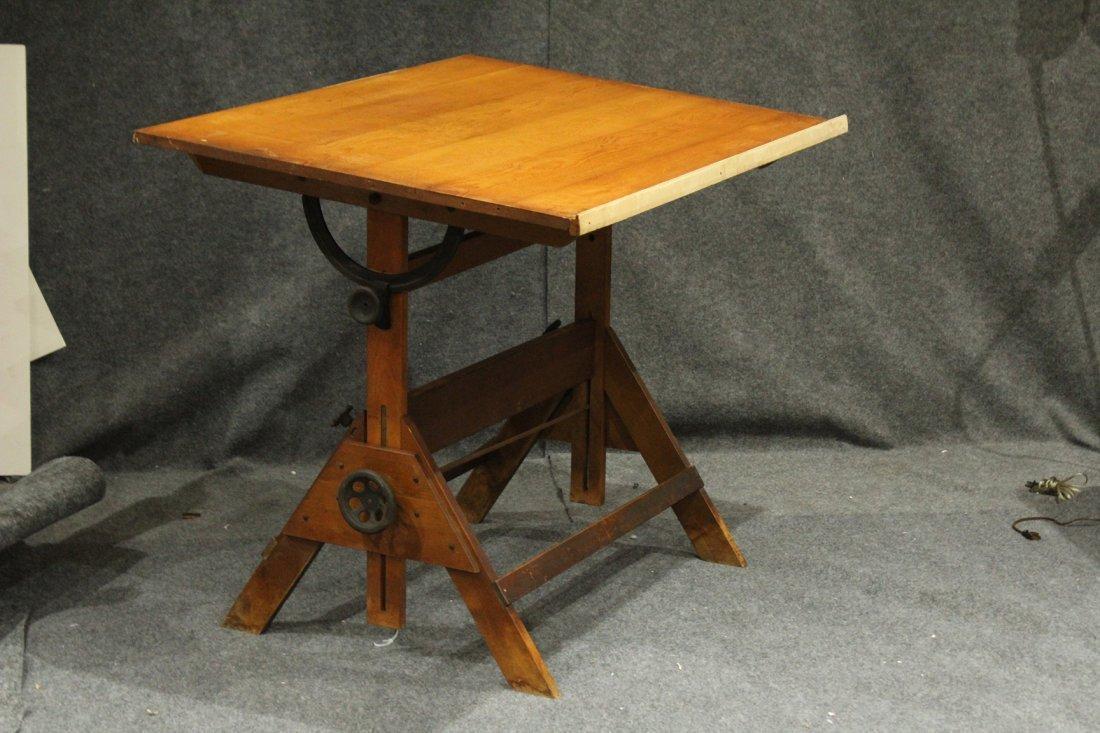 Vintage Tilt Top Drafting Table - 4