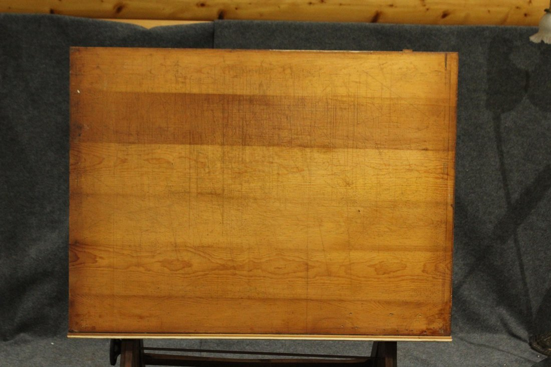 Vintage Tilt Top Drafting Table - 5