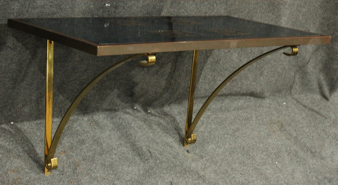 Superb Quality Mid-Century Bronze and Tile Hall Table - 2