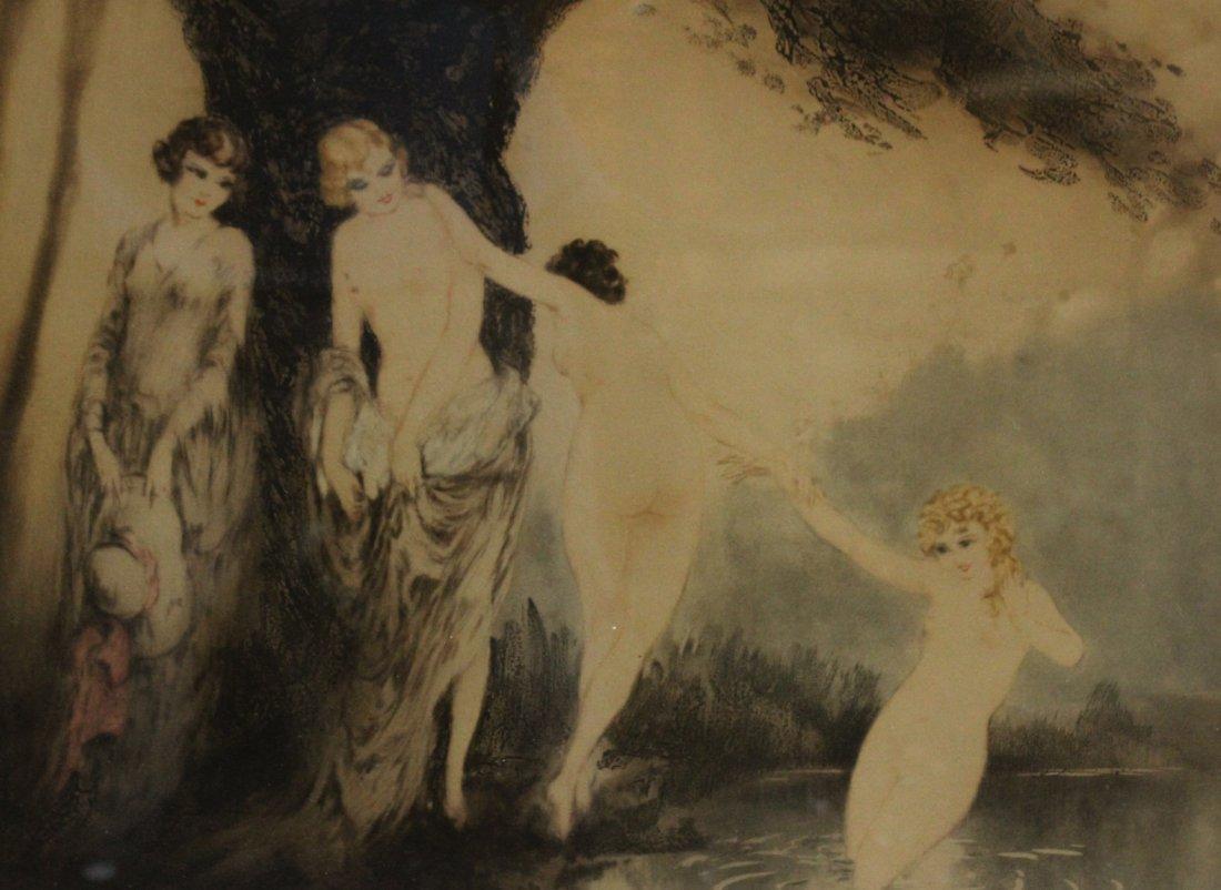 Original LOUIS ICART Etching Bathing Beauties - 4