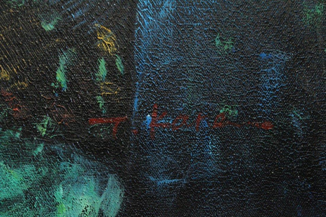 T Karas, Oil/C, Two Cubistic Figures - 3