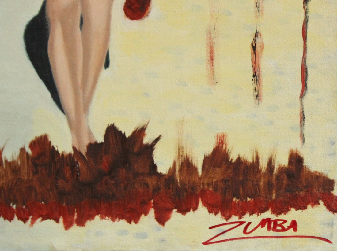 Zumba, Oil/C Nude Woman in Surrealism painting - 2
