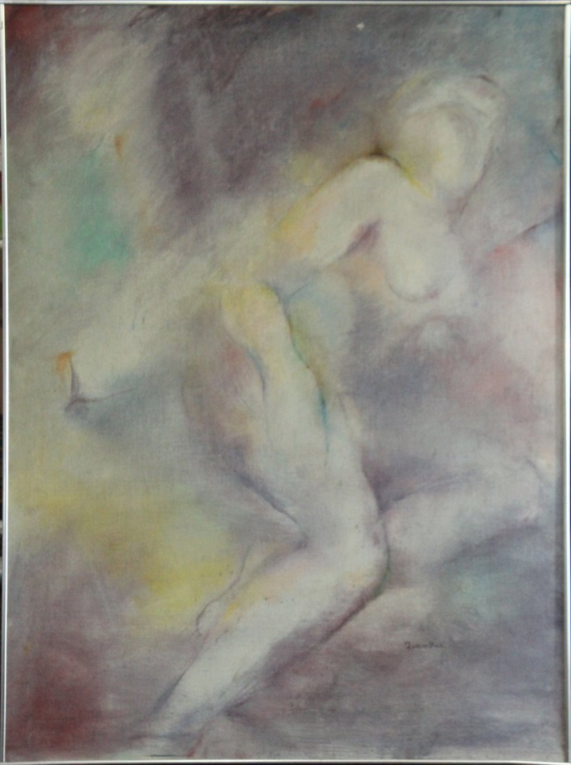 Frankie Bace, Oil on Canvas Painting, Reclining Nude