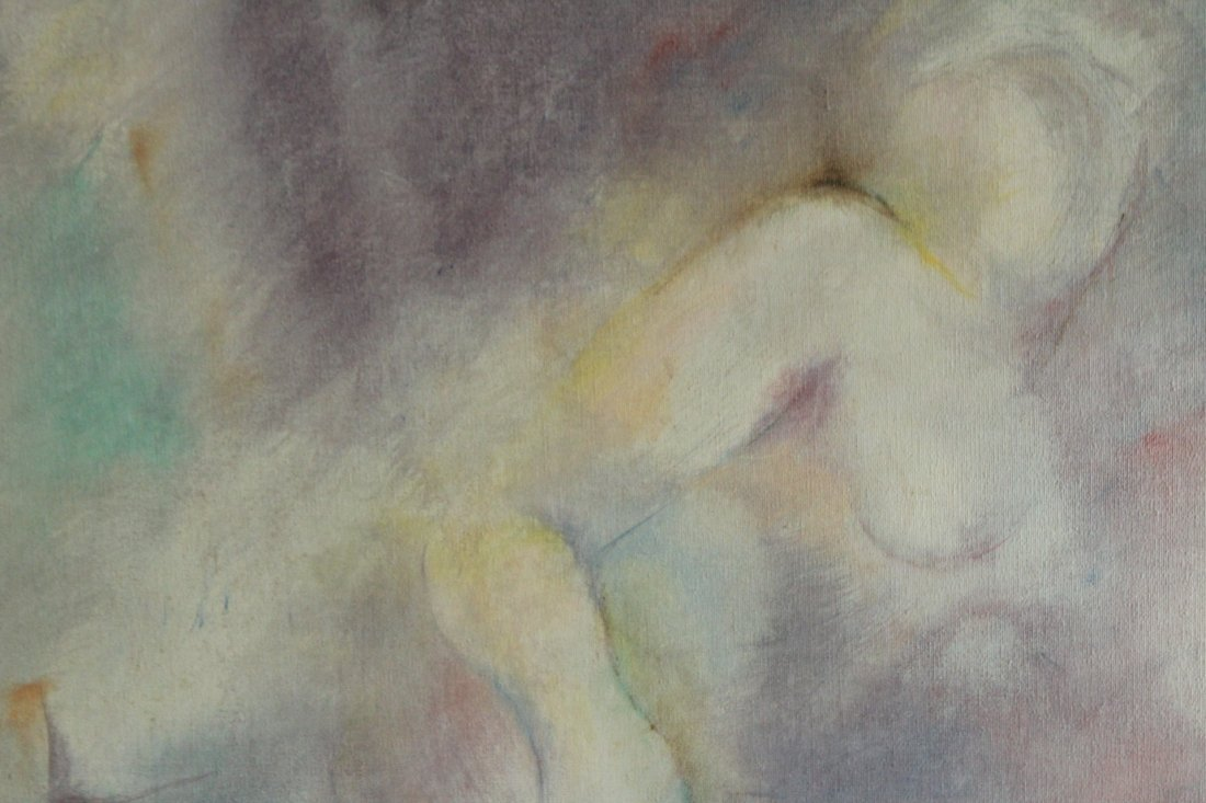 Frankie Bace, Oil on Canvas Painting, Reclining Nude - 3