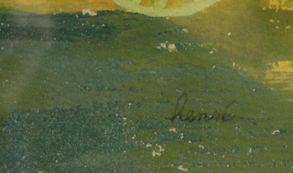 Henri, Vintage Watercolor, Texas Old Western Ghost Town - 2