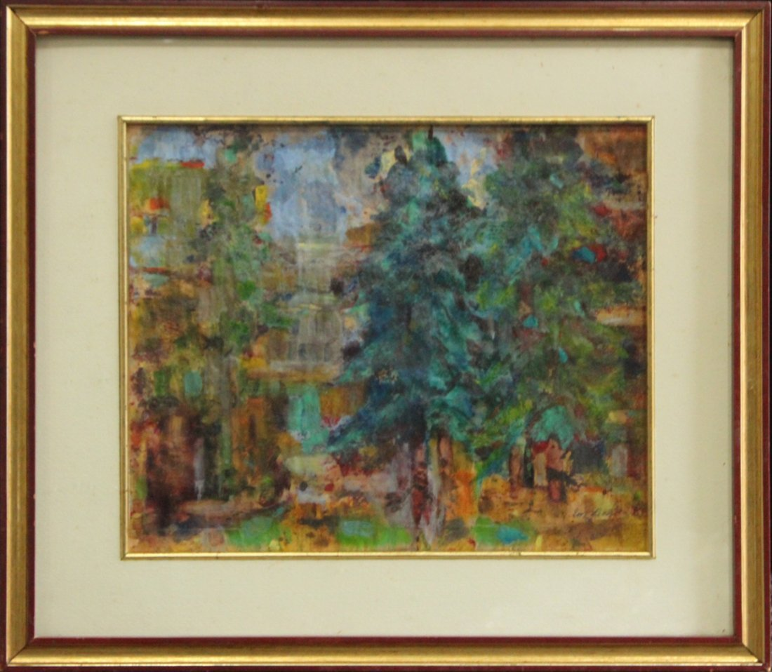 Evelyn Licht, Woman Artist, Pine In The Piazza, Oil/P