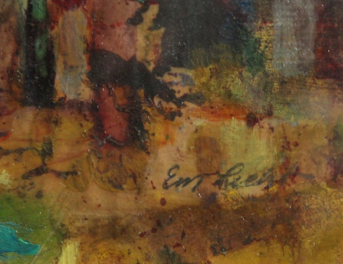 Evelyn Licht, Woman Artist, Pine In The Piazza, Oil/P - 2