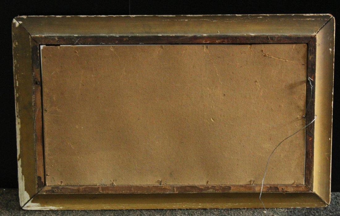 Circa 1920 Pastel River Landscape Original Shaped Frame - 3