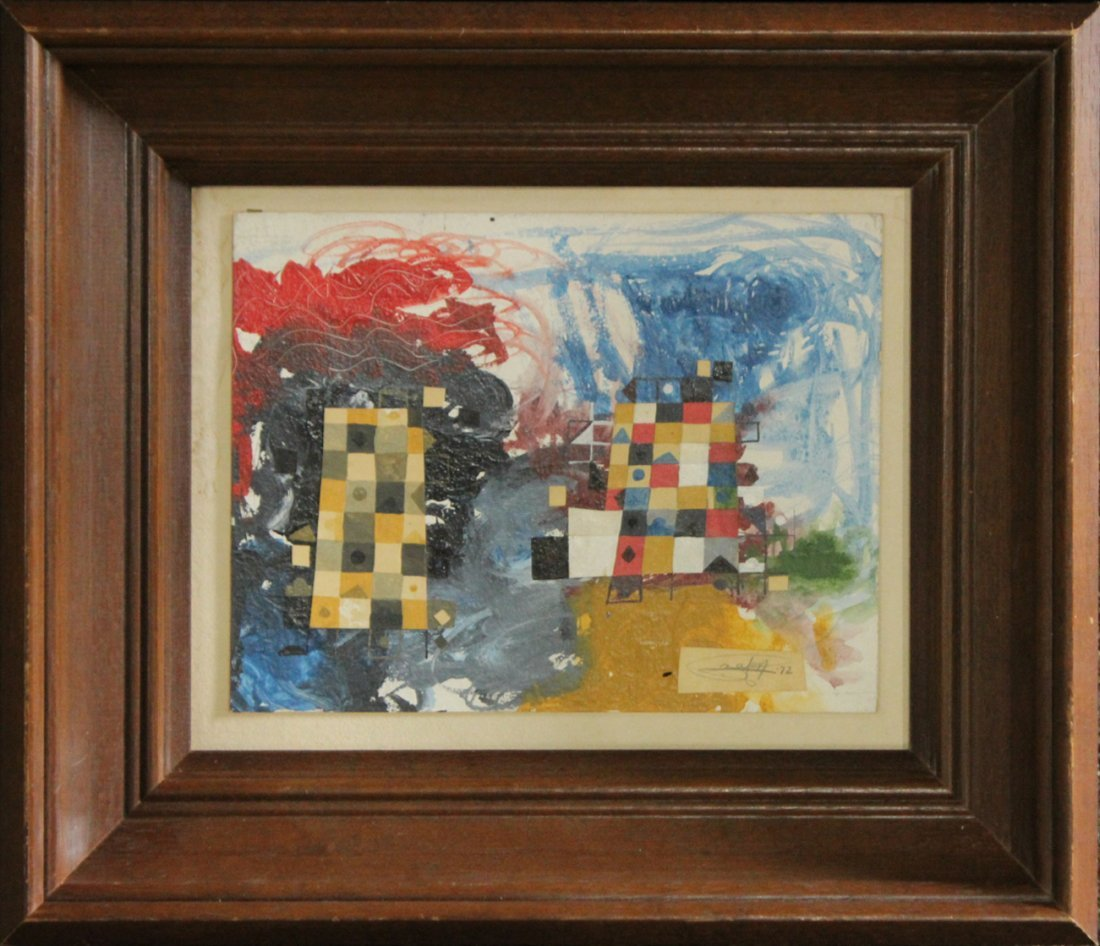 Garry Zayon, Oil/B , Abstract Composition, Signed