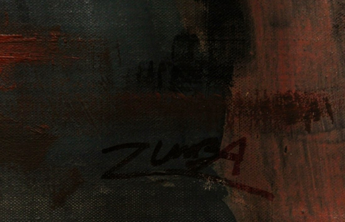 Zumba, Oil /C Abstract Expressionism Painting - 2