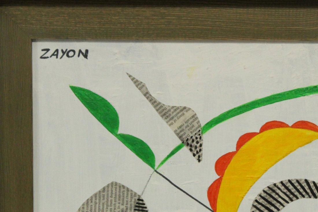 SEYMOUR ZAYON Mid Century Modern AMOEBA ABSTRACT - 2