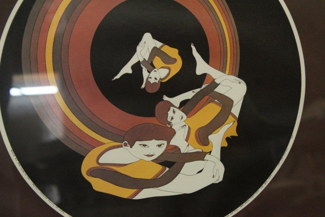 1960s Girls In A Spin Vintage Print Framed. - 2