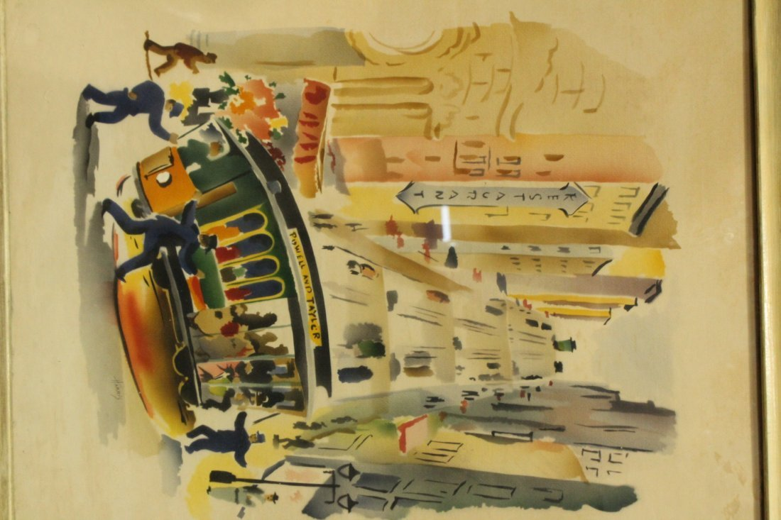 Harris, Vintage Mid-Century Silkscreen of San Francisco - 5