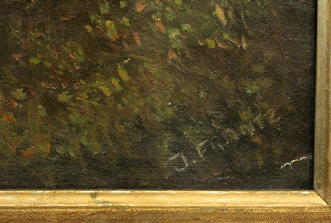 J. Frantz, Oil/B, Landscape With Stream, Signed. - 2