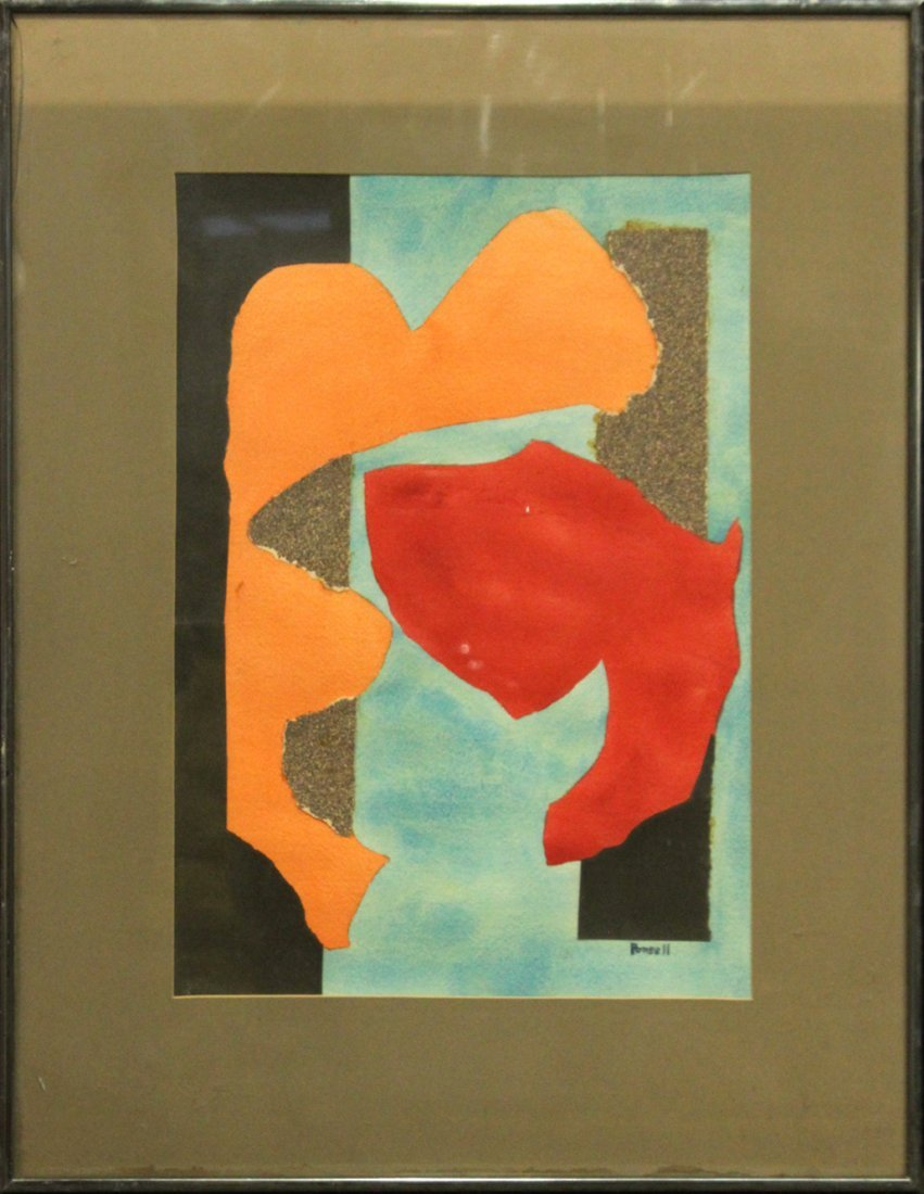 I Carmean Ponsell, Delaware Artist, Abstract Watercolor