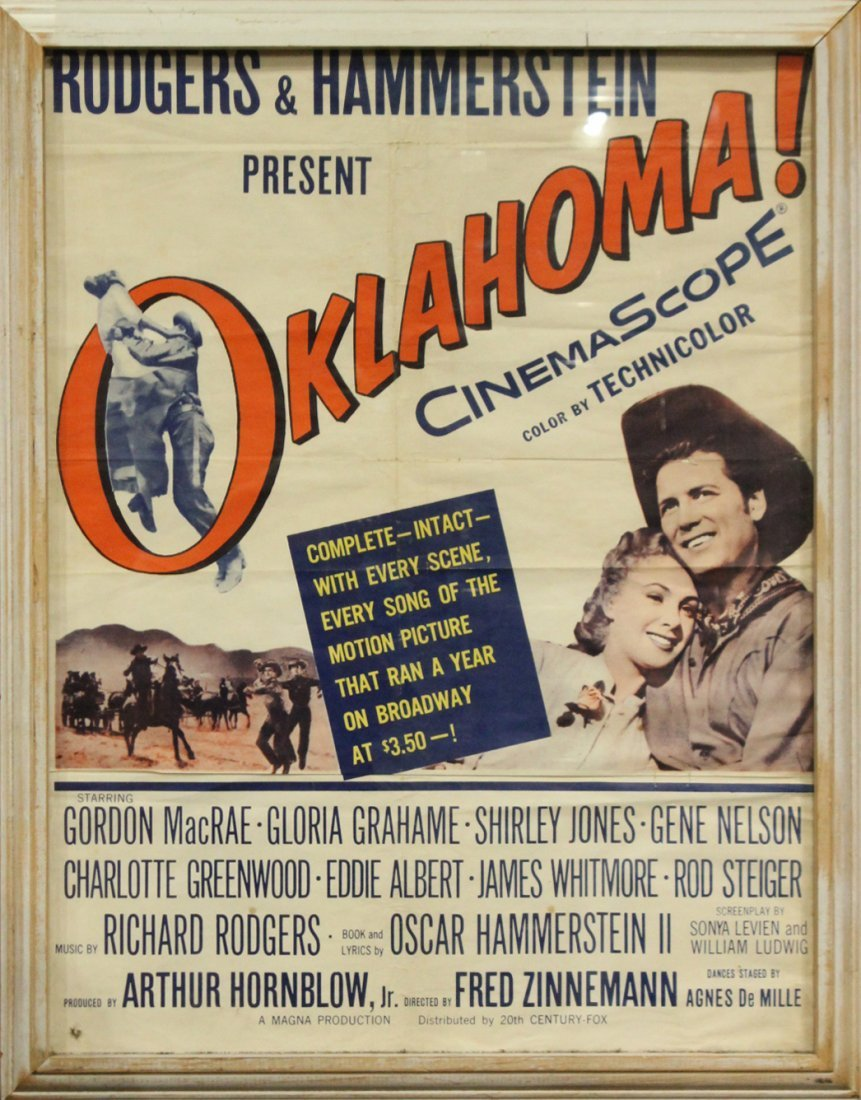 Rodgers & Hammerstein OKLAHOMA Vintage Movie Poster