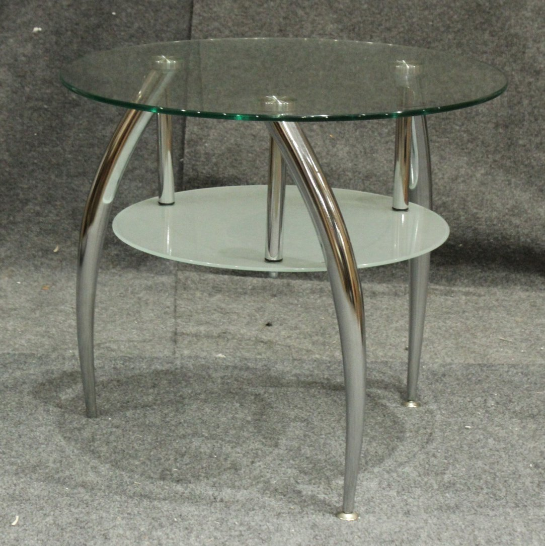 Atomic Space Age Design Occasional Glass Top Stand