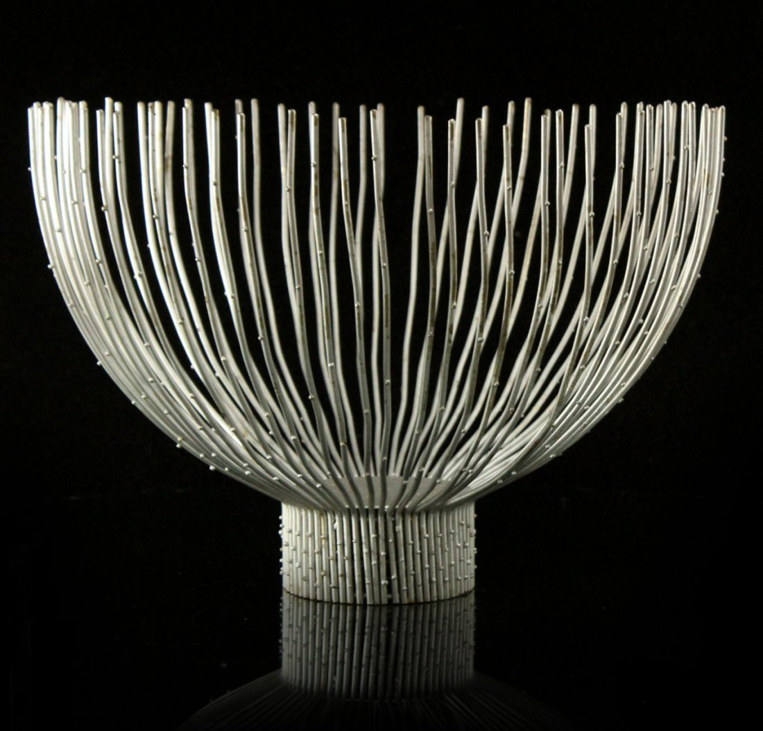 Bertoia Attributed, Mid-Century Modern Large Wire Bowl
