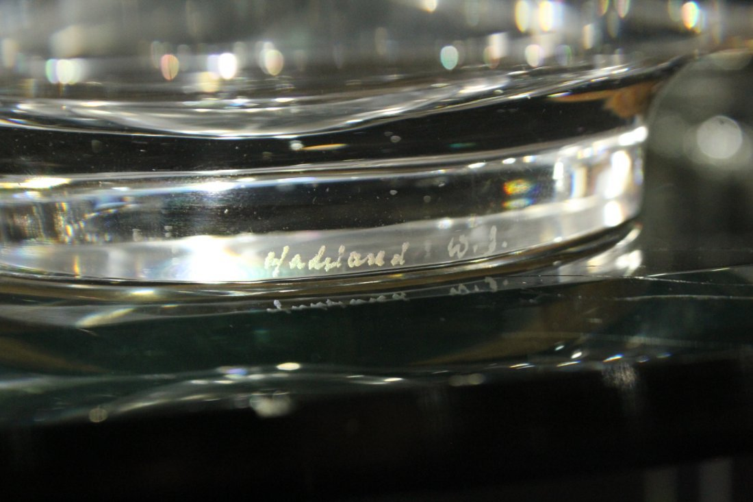 Two [2] Hadeland  Glass Norway Clear Shallow Bowls - 5