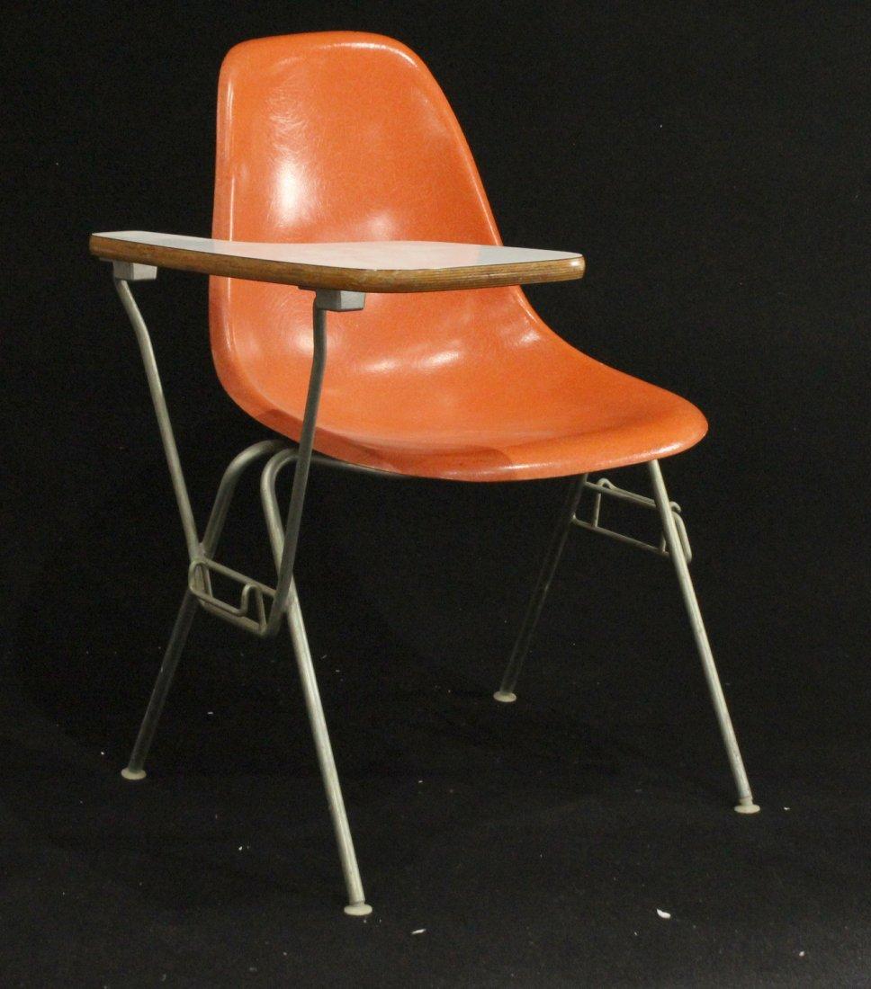 Herman Miller Orange Shell Chair School Desk