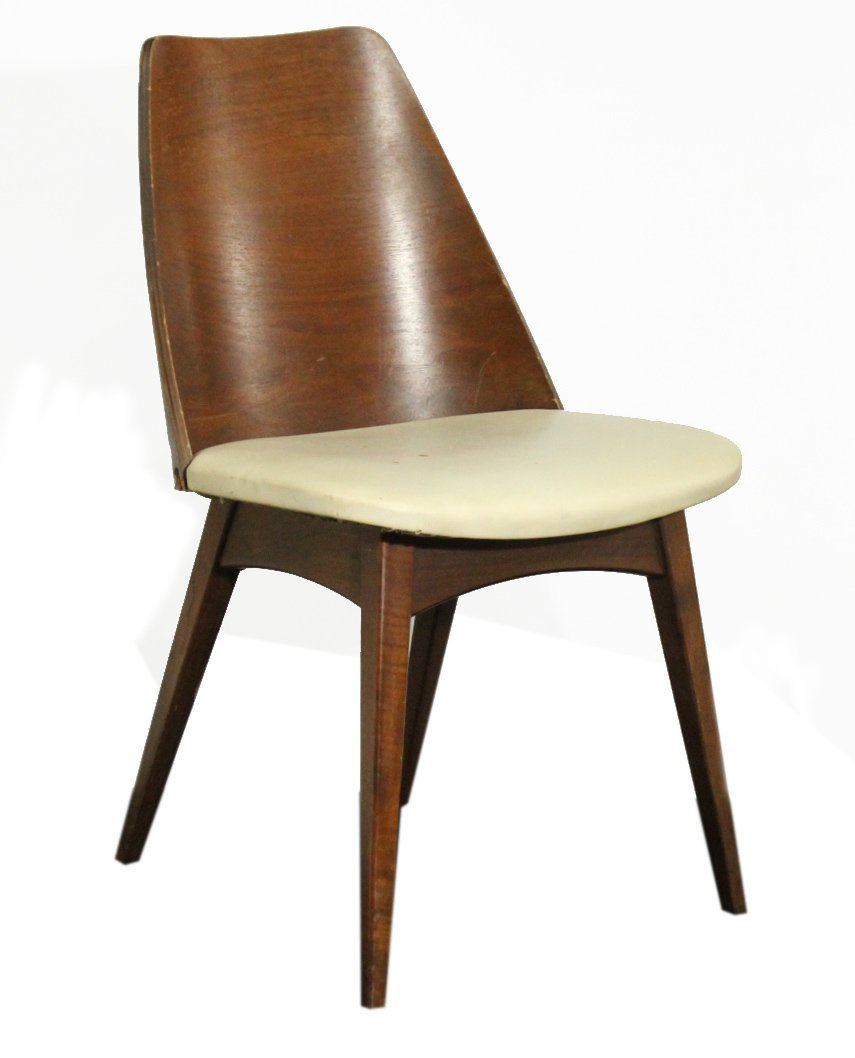 Mulhauser Bent Ply Wood Barrel Back Side Chair