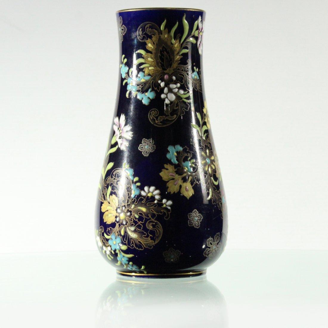 Quality Cobalt Glaze Porcelain Vase Enamel Floral Decor