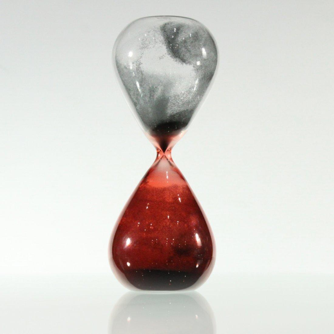 "Mid-Century Italian Art Glass ""Hour Glass"""