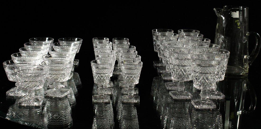 35 PCS. GLASS PITCHER, GLASS TUMBLERS DRINKING GLASSES