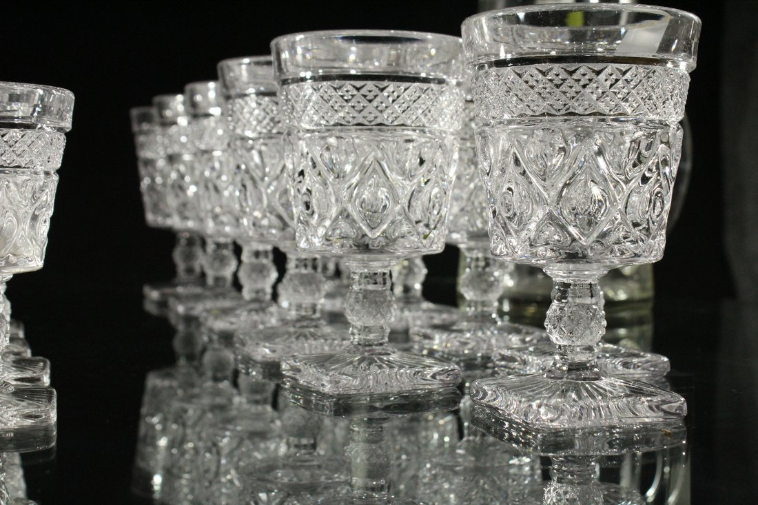 35 PCS. GLASS PITCHER, GLASS TUMBLERS DRINKING GLASSES - 4