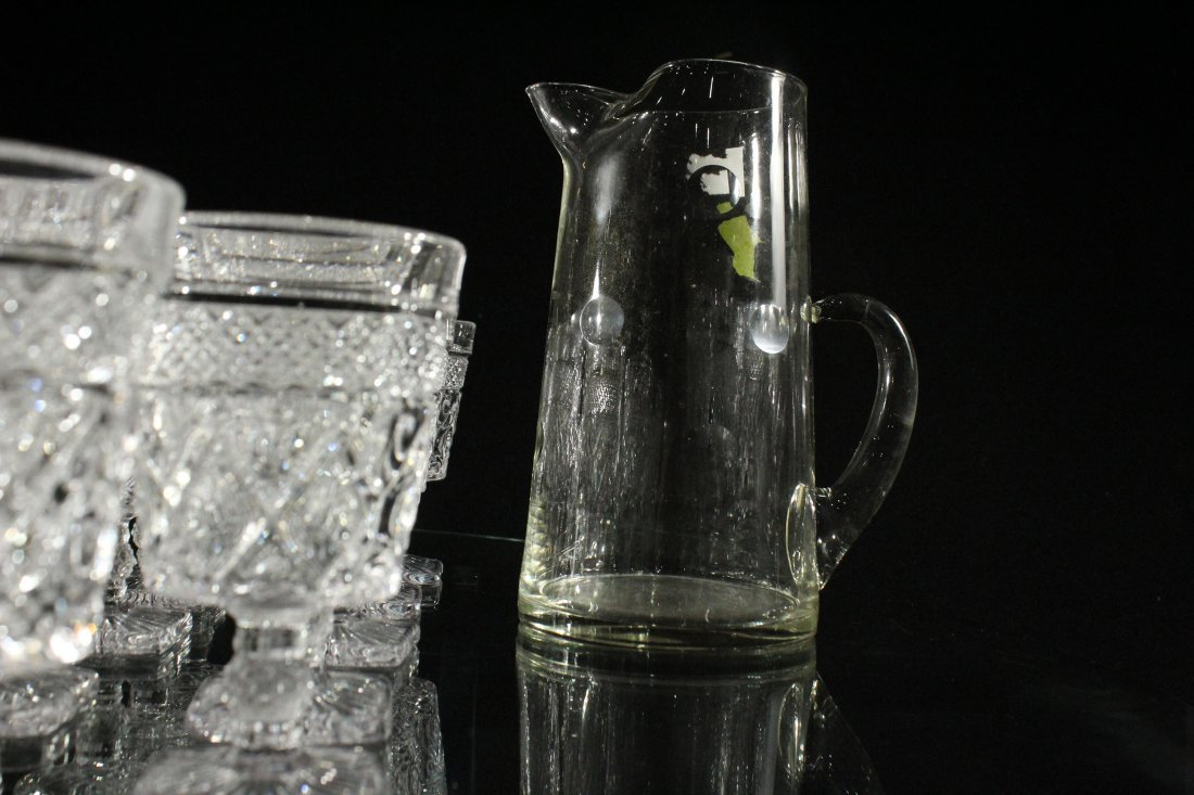 35 PCS. GLASS PITCHER, GLASS TUMBLERS DRINKING GLASSES - 5