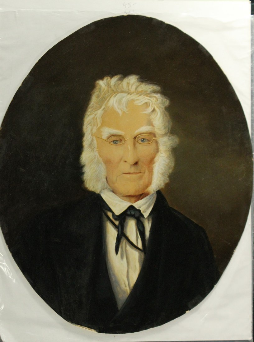 19th C, Oval Oil Painting of a Gentleman, Info on Verso