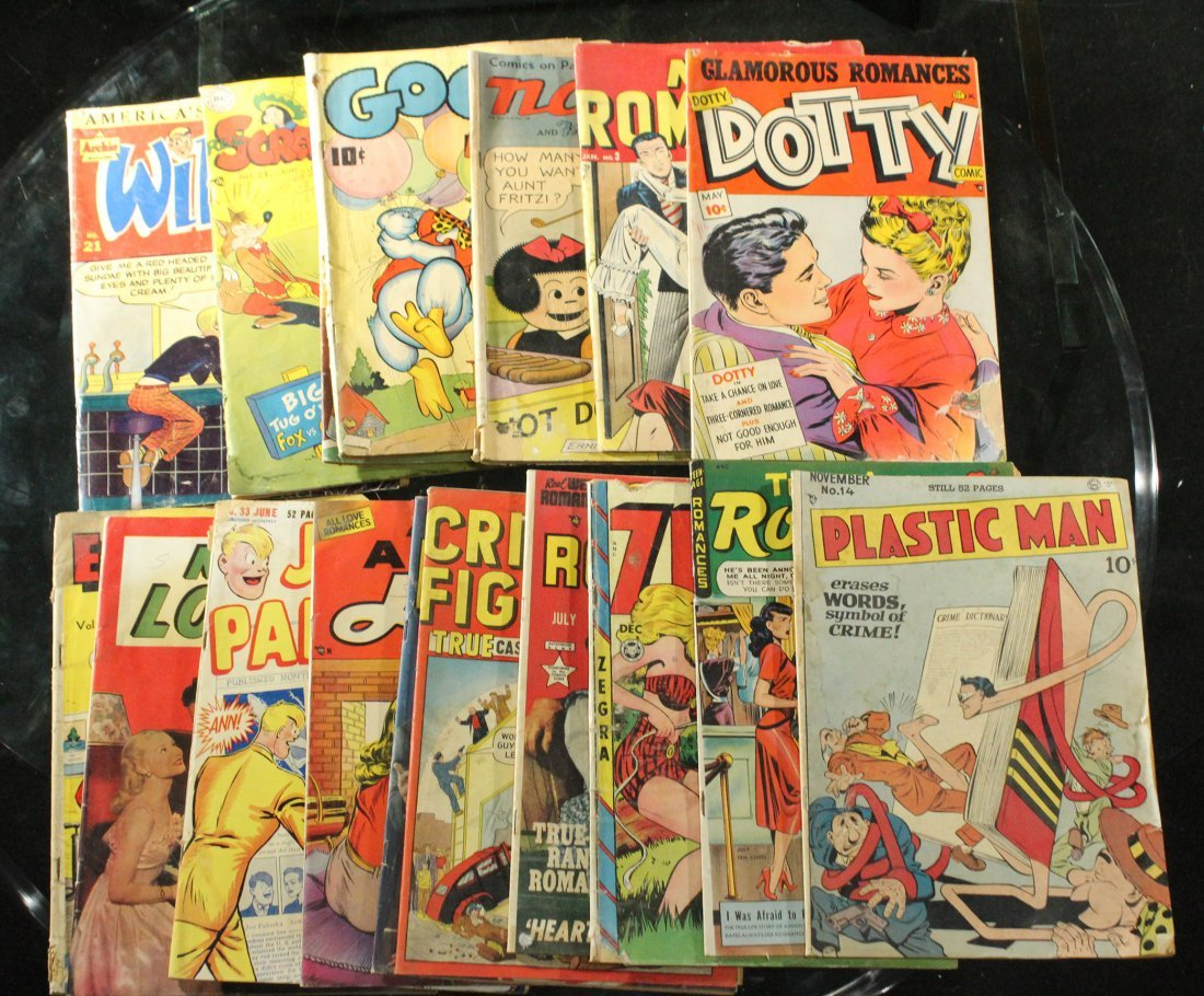 17x assorted vintage comics