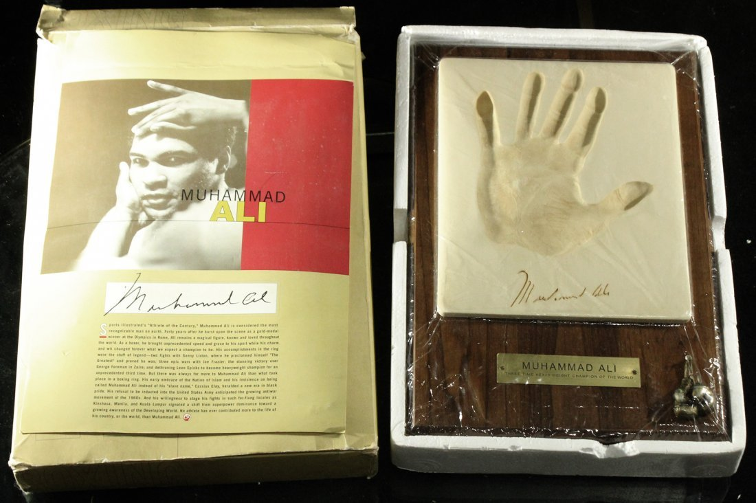 Muhammad Ali Hand print