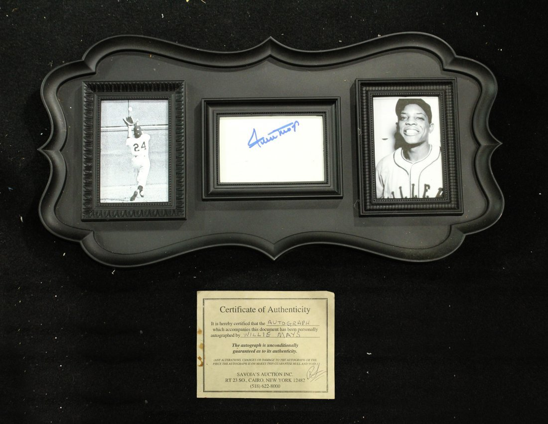 Willie Mays Signed / Autographed item with COA