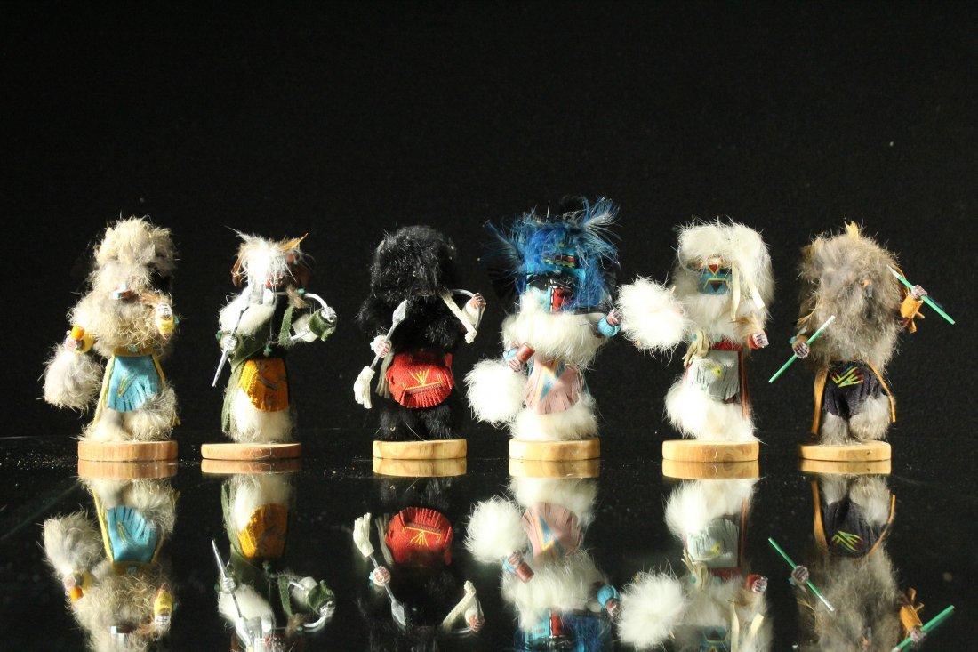 6x Hopi Kachina figure dolls