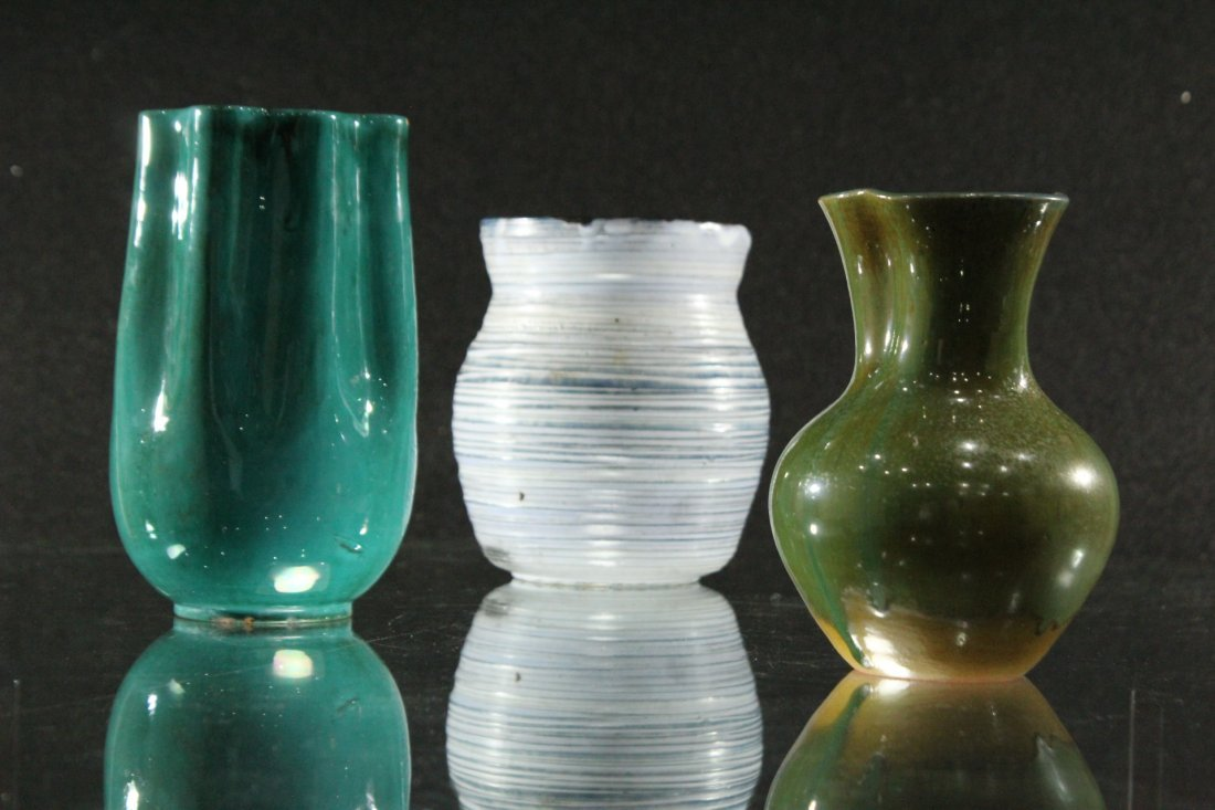 Collection of assorted pottery vases - Signed