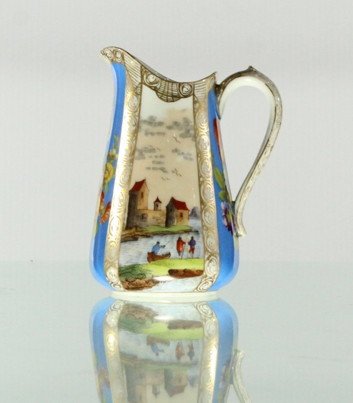Dresden Hand-painted pitcher ewer