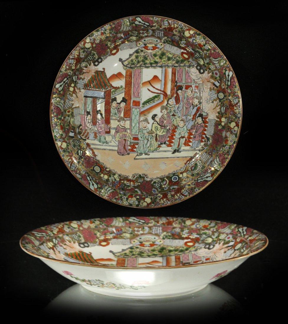 large Oriental Famille rose platter