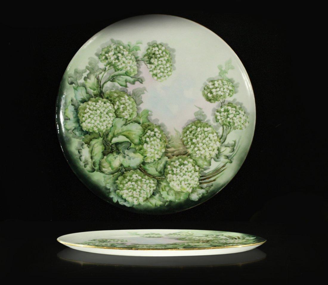 k j sevens porcelain charger platter