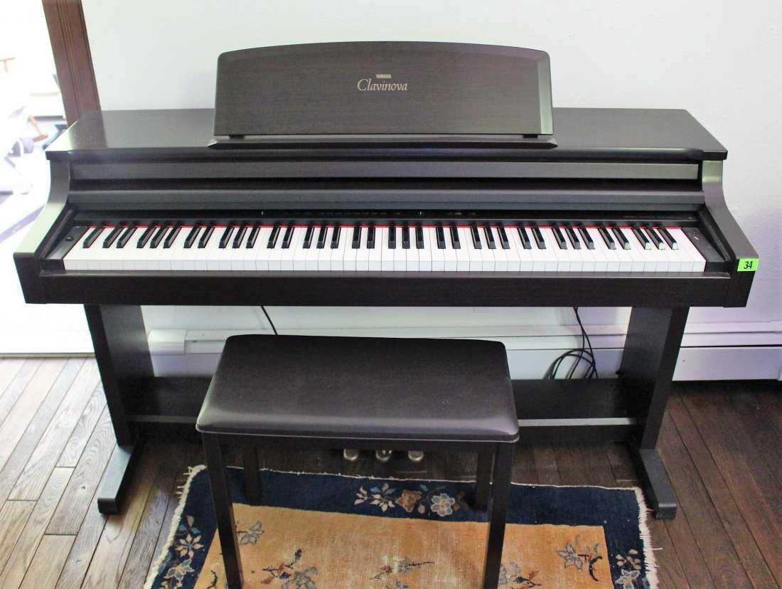 Electric Piano Yamaha : yamaha clavinova clp 155 electric piano with bench ~ Hamham.info Haus und Dekorationen