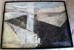 TADEA E WERFELMANN [GENTRY] Abstract Landscape Oil/B