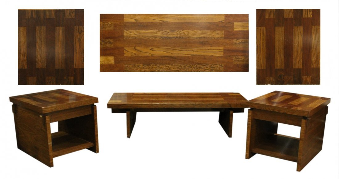 Spectacular 3-Pc LANE Directional Coffee Table Set