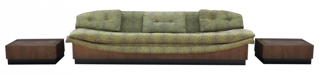 ADRIAN PEARSALL Original Gondola Sofa With Side Tables